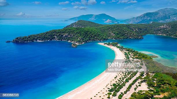 view of oludeniz, turkey - aegean turkey stock pictures, royalty-free photos & images