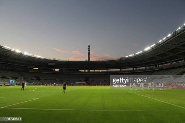 A view of Olympic Grande Torino Stadium empty due to the Covid19 coronavirus before the closeddoors match between Torino FC and Brescia Calcio on...
