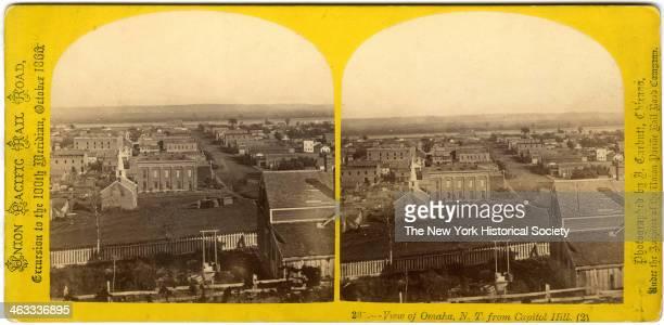 View of Omaha Nebraska from Capitol Hill October 1866