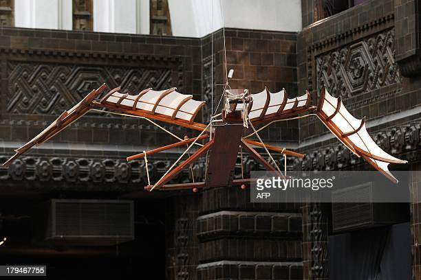 A view of one of an invention on display in the 'Da Vinci The Genius ' exhibition being held in the former post office in Rotterdam the Netherlands...