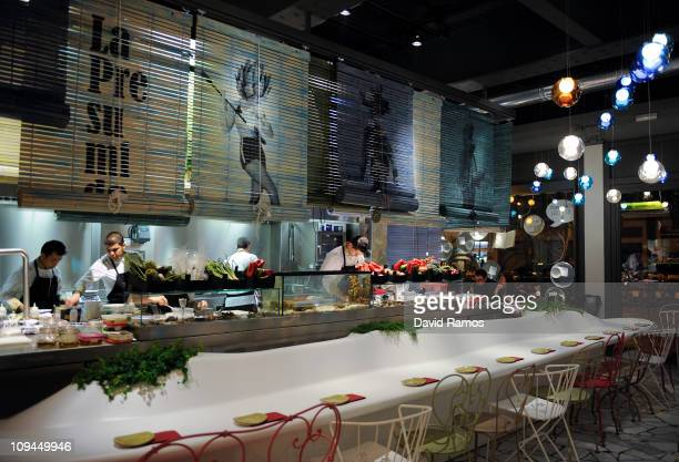A view of one of the bars of the new restaurant 'Tickets' created by Ferran Andria and his brother Albert Adria on February 26 2011 in Barcelona...
