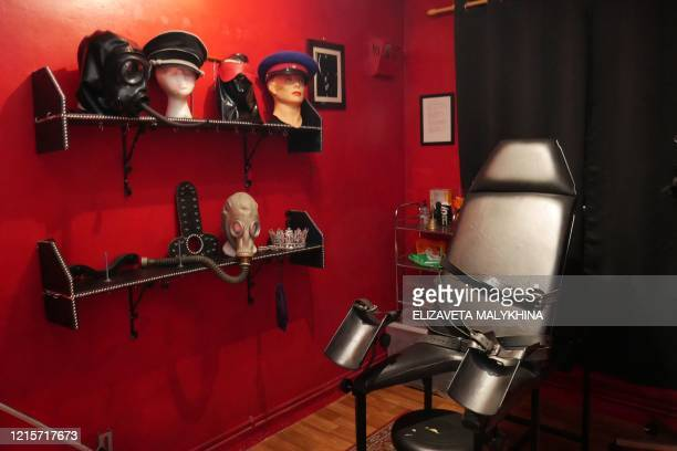 A view of one of the rooms at the Hoxton Dungeon suite a BDSM apartment in central London on May 23 2020 The Hoxton Dungeon has had to close its...