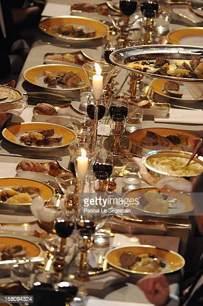 View of one of the tables of the Nobel Banquet after the 2012 Nobel Prize Ceremony at Town Hall on December 10 2012 in Stockholm Sweden