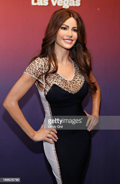 A view of one of two Madame Tussauds wax figures in the likeness of Sofia Vergara which will be on display at Madame Tussauds locations in New York...