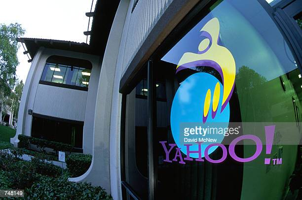 A view of one window at Yahoo headquarters located in Silicon Valley April 21 2000 in Santa Clara CA The company is one of many computer technology...