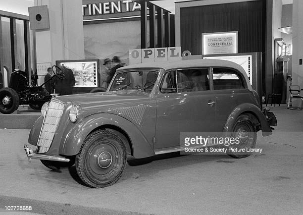 View of Opel 'Olympia' car at Berlin Exhibition Photograph taken during Berlin Automobile Exhibition, 1935.