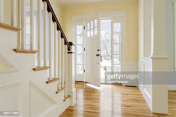 View of open front door of custom home