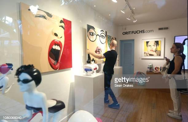 View of Orit Fuchs exhibition at Aqua Art Fair as part of the 2018 Art Basel Miami Beach on December 8 2018 in Miami Beach Florida