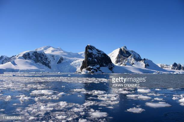 View of Orne Harbour in South Shetland Islands, Antarctica on November 08, 2019.