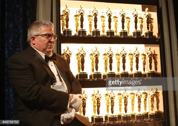 A view of oscar statuettes backstage during the 89th Annual Academy Awards at Hollywood Highland Center on February 26 2017 in Hollywood California