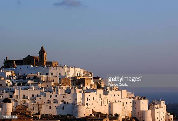 A view of Ostuni on August 13 in Salento Italy Salento is that strip of land that forms the heel of the boot It is located between two seas the Ionic...