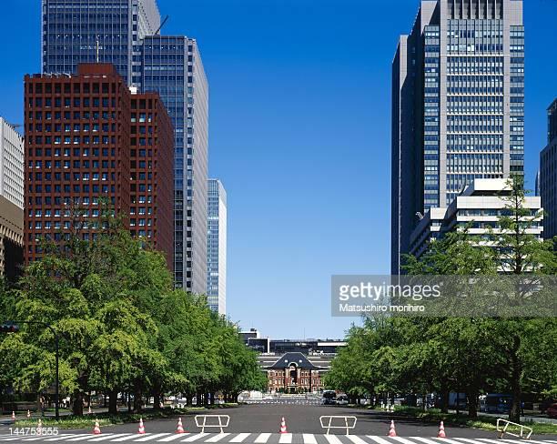 View of Otemachi cityscape
