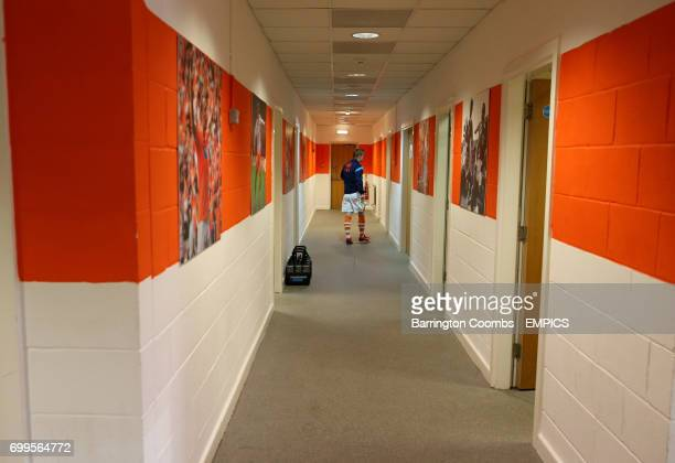 A view of outside the changing rooms at Bloomfield Road before the game