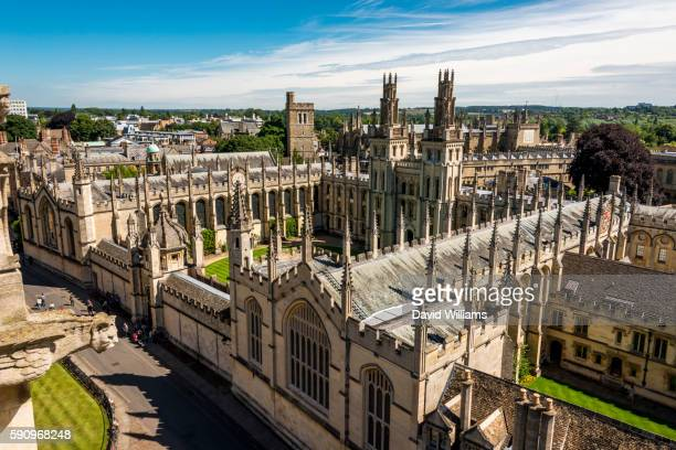 view of oxford - oxford england stock pictures, royalty-free photos & images