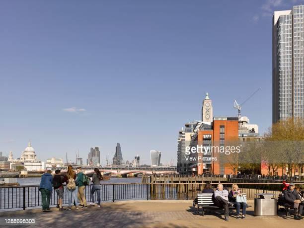 View of Oxo Tower. Southbank London, London, United Kingdom. Architect: Lifschutz Davidson Sandilands, 2017.
