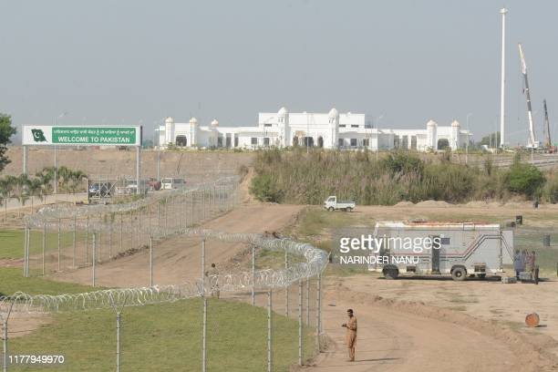 A view of Pakistani Passenger Terminal Building is pictured after Joint Secretary of Indian Home Ministry SCL Das signed an agreement with Pakistan...
