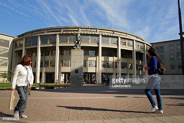 View of Palace of Justice on April 14th 2015 in Concepcion Chile Concepcion is one of the eight host cities of the next Copa America Chile 2015 which...