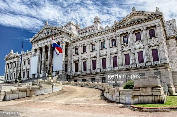 view of palacio legislativo, montevideo, uruguay - uruguai - fotografias e filmes do acervo