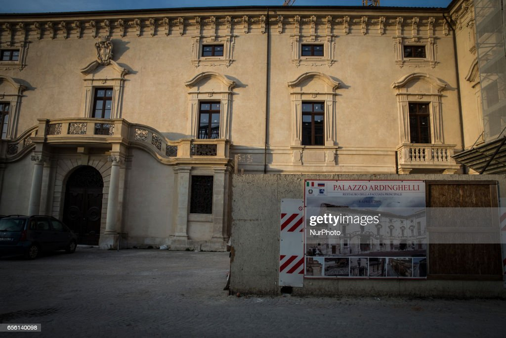 Eight Years After The Earthquake In L'Aquila : ニュース写真