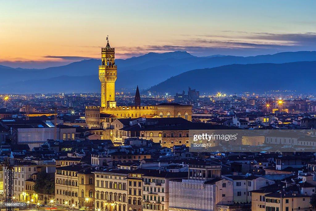 view of Palazzo Vecchio, Florence, Italy : Stock Photo