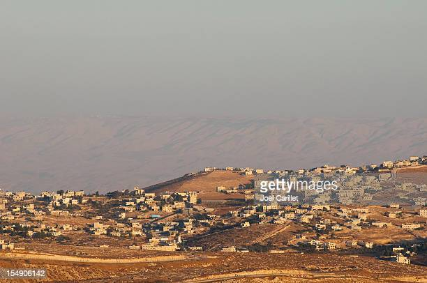 View of Palestinian landscape and homes from Bethlehem, Palestine