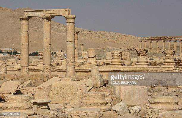A view of Palmyra also known as Tadmur in Arabic 220 kms northeast of the Syrian capital Damascus on June 19 a wealthy city located along the caravan...