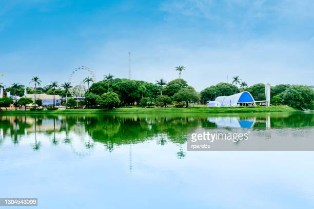 view of pampulha lagoon - belo horizonte - belo horizonte stock pictures, royalty-free photos & images