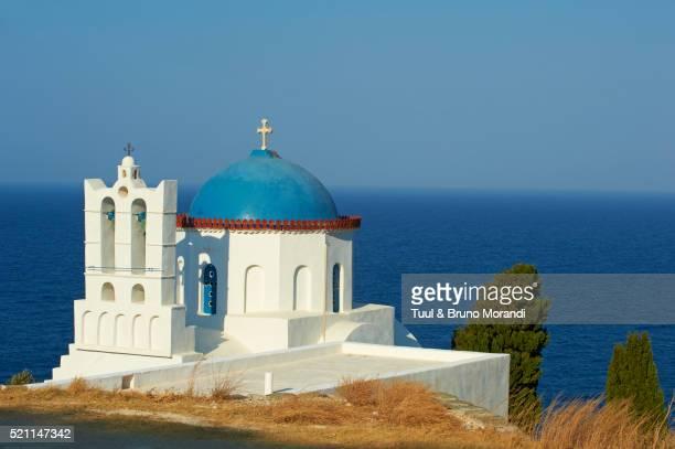 View of Panagia Poulati monastery, Sifnos, Cyclades, Greece