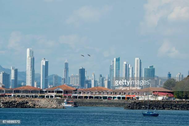 View of Panama City from the Gulf of Panama Panama