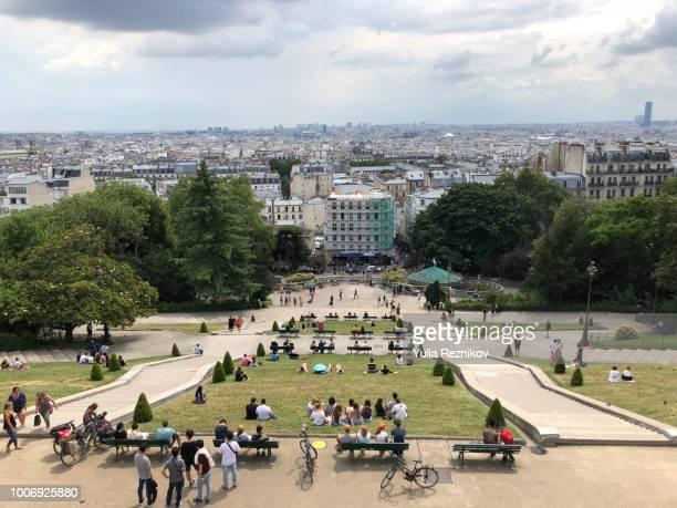 View of Paris from Basilica Sacre Coeur Church