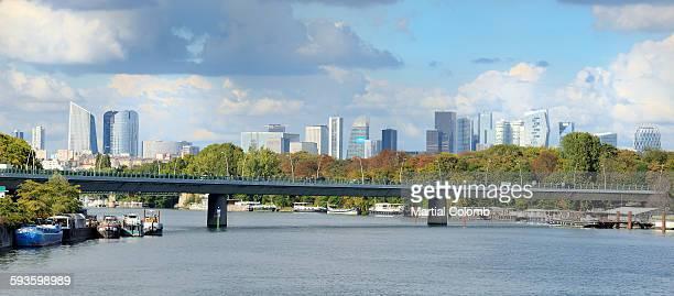 view of paris - seine stockfoto's en -beelden