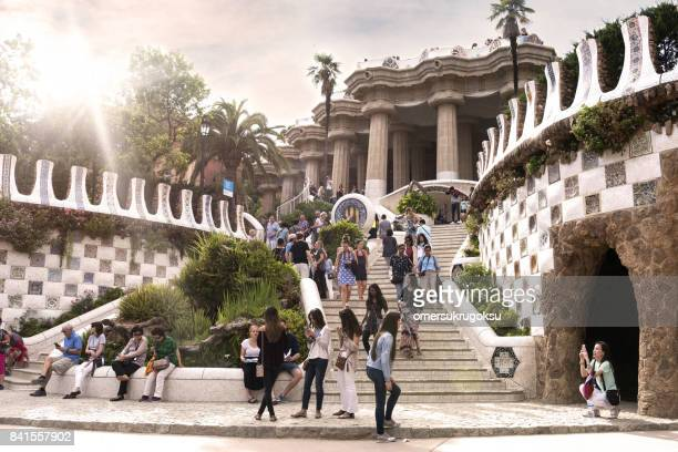 View of Park Guell in Barcelona, Spain