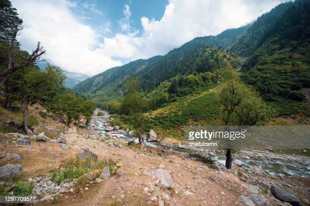 view of part of naranag-gangabal trek, undoubtedly one of the most beautiful treks in kashmir region of jammu & kashmir state. - shaifulzamri stock pictures, royalty-free photos & images