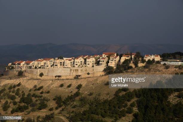 View of part of the Jewish settlement of Maale Adumim on January 28, 2020 in Maale Adumim, West Bank. U.S. President Donald Trump says he's offering...