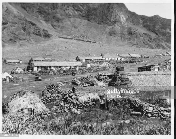 A view of part of the settlement on the island of Tristan da Cunha in the Atlantic taken by members of the Royal Society on their 1962 expedition