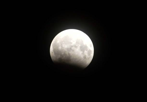 A view of partial lunar eclipse on August 7 2017 in Jalandhar India The lunar eclipse will start at around 1052 pm on the night of August 7 and will..