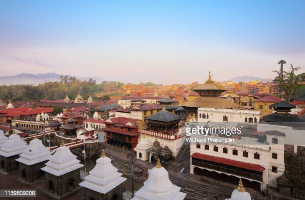 view of pashupatinath temple in kathmandu, nepal - pashupatinath stock pictures, royalty-free photos & images