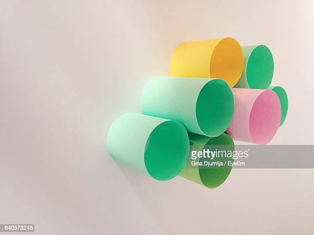 View Of Pastel Colored Plastic Cup