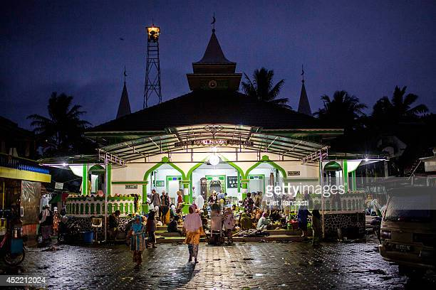 A view of Payaman mosque at a boarding school Sepuh Payaman that cares for the elderly during Ramadan on July 15 2014 in Magelang Central Java...