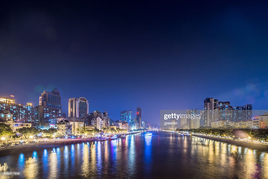 View of Pearl River, Guangzhou, Guangdong, China : Stock Photo