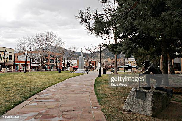 A view of Pearl Street in downtown Boulder Colorado on March 7 2016