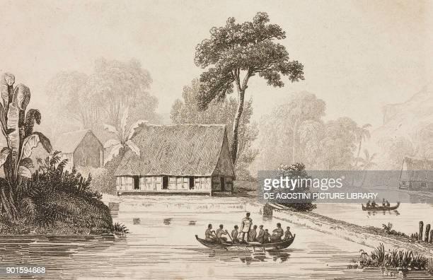 View of Peleliu Polynesia engraving by De Rienzi and Chollet from Oceanie ou Cinquieme partie du Monde Revue Geographique et Ethnographique de la...