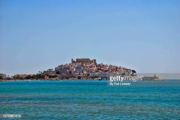 view of peniscola - castellon province stock pictures, royalty-free photos & images
