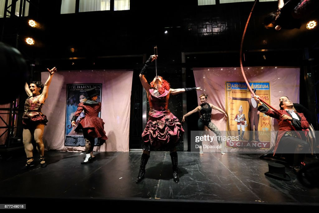 A view of performers onstage during the 2017 Bloomingdale's Holiday Windows Unveiling at Bloomingdale's on November 21, 2017 in New York City.