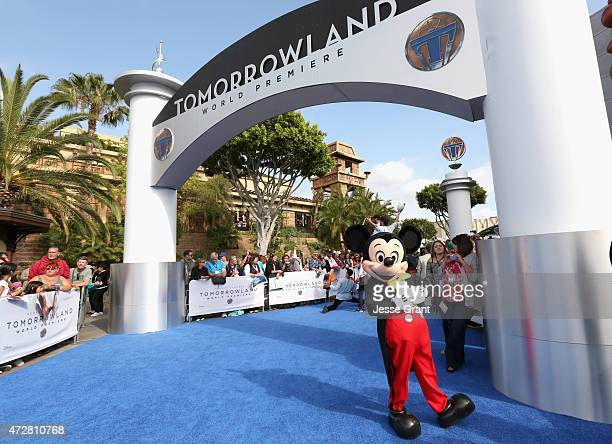A view of performs on the carpet during the world premiere of Disney's 'Tomorrowland' at Disneyland Anaheim on May 9 2015 in Anaheim California
