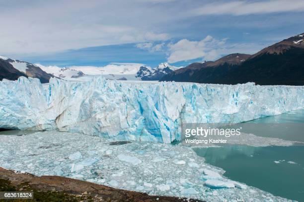 View of Perito Moreno Glacier in Los Glaciares National Park near El Calafate Argentina