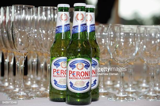 A view of Peroni at DuJour Media's Jason Binn Leslie Farrand and Fiona Murray hosted Screening and AfterParty at Parrish Art Museum Celebrating...