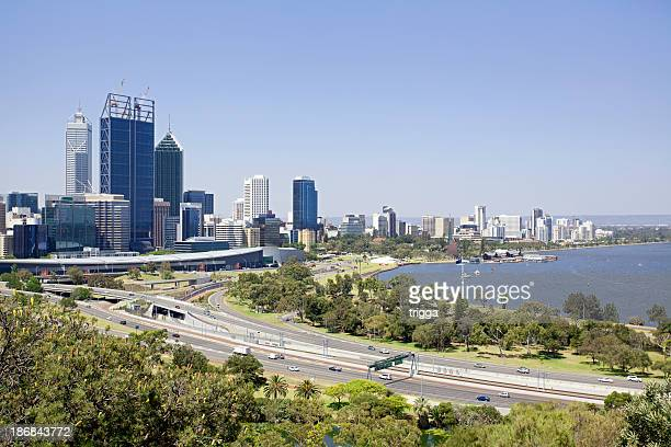 View of Perth city, Australia from King's Park
