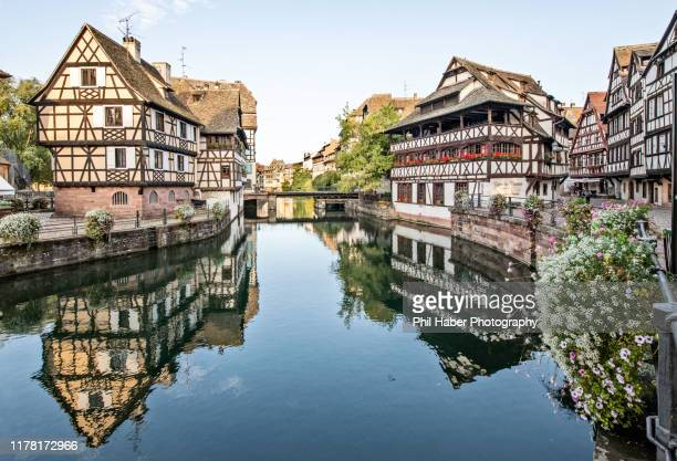 view of petite france, strasbourg - phil haber stock pictures, royalty-free photos & images