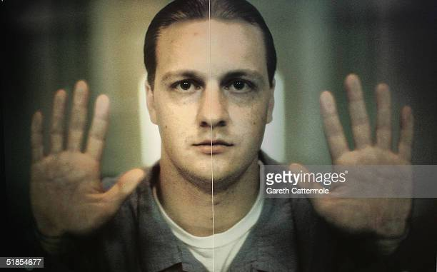 """View of photographer Oliviero Toscani's work at the private viewing of his exhibition """"We, On Death Row"""" at The Boiler House, Brick Lane on December..."""